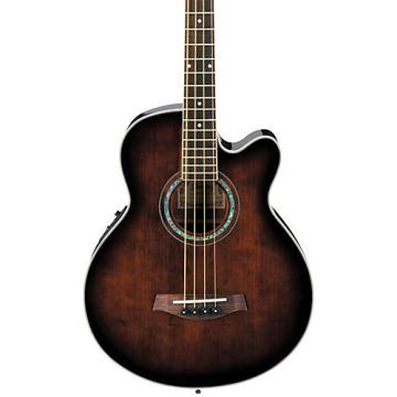Ibanez AEB10E Acoustic-Electric Bass Guitar with Onboard Tuner Dark Violin Sunburst