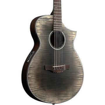 Ibanez AEWC32FM Thinline Acoustic-Electric Guitar Transparent Black Sunburst