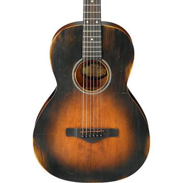 Ibanez AVN6 Artwood Vintage Distressed Parlor Acoustic Guitar Tobacco Sunburst