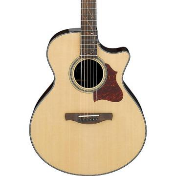 Ibanez AE Series AE305NT Solid Top Acoustic-Electric Guitar High Gloss Natural