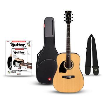Ibanez Performance Series PF15 Left Handed Dreadnought Acoustic Guitar Bundle Natural
