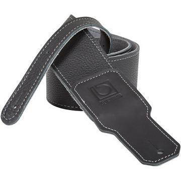 "Boss 2.5"" Premium Leather Guitar Strap Black 2.5 in."