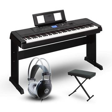 Yamaha DGX660 88-Key Portable Grand Piano Packages Black Advanced Home Package