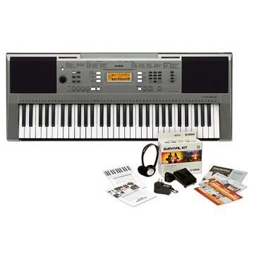 Yamaha PSRE353 61-Key Portable Keyboard Keyboard with Survival Kit