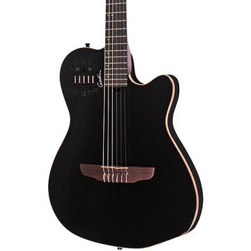 Godin ACS-SA Slim Nylon String Cedar Top Acoustic-Electric Guitar Black Pearl