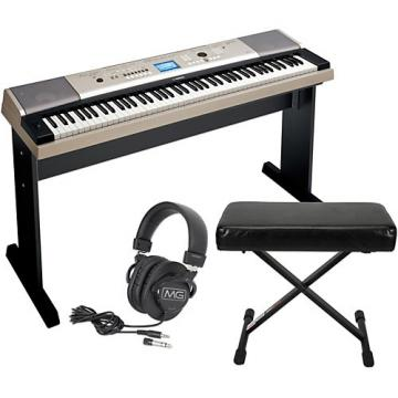 Yamaha YPG535 88Key Portable Grand Piano Keyboard with Bench and Headphones
