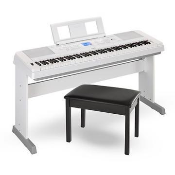 Yamaha DGX660 88-Key Portable Grand Piano White with Bench