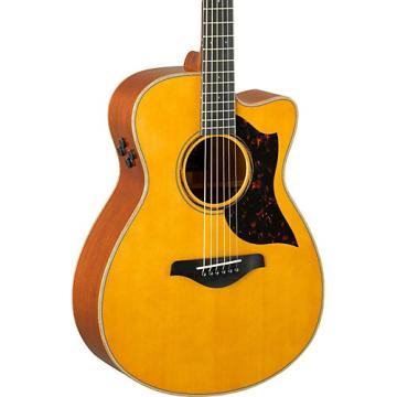 Yamaha A-Series AC3M Cutaway Concert Acoustic-Electric Guitar Vintage Natural