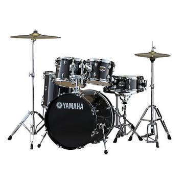 "Yamaha Gigmaker 5-Piece Drum Set with 20"" Bass Drum Black Glitter"