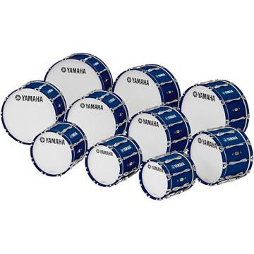 """Yamaha 18"""" x 14"""" 8300 Series Field-Corps Marching Bass Drum Blue Forest"""
