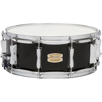 Yamaha STAGE SBS 1455CR CUSTOM BIRCH SNARE 14X5 5 IN CRANBERRY RED 14 x 5.5 in. Raven Black