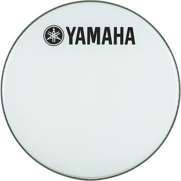 Yamaha Marching Bass Drum Head with Fork Logo White 32 in.