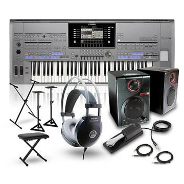 Yamaha Tyros5-61 with RPM3 Monitors, Headphones, Bench, Stand and Sustain Pedal