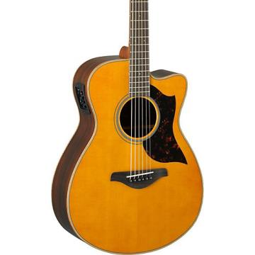 Yamaha A-Series AC1R Cutaway Concert Acoustic-Electric Guitar Vintage Natural