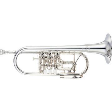 Yamaha YTR-948FFMS Custom Series Rotary C Trumpet Silver