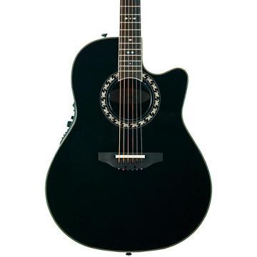 Ovation Legend 2077 AX Deep Contour Acoustic-Electric Guitar Black