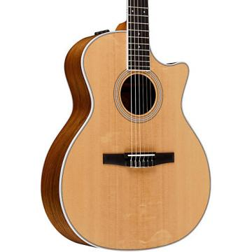 Chaylor 400 Series 414ce-N Grand Auditorium Nylon String Acoustic-Electric Guitar Natural