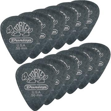 Dunlop Tortex Pitch Black Standard Guitar Picks 1 Dozen .50 mm