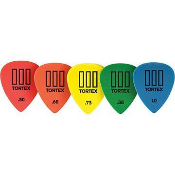 Dunlop Tortex T3 Sharp Tip Guitar Picks 72-Pack 1.0 mm