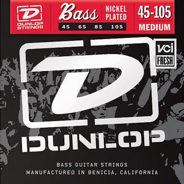 Dunlop Nickel Plated Steel Bass Strings - Medium