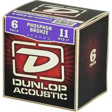 Dunlop Phosphor Bronze Acoustic Guitar Strings Medium Light 6-Pack