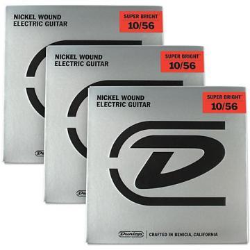 Dunlop Super Bright Medium Nickel Wound 7-String Electric Guitar Strings (10-56) 3-Pack