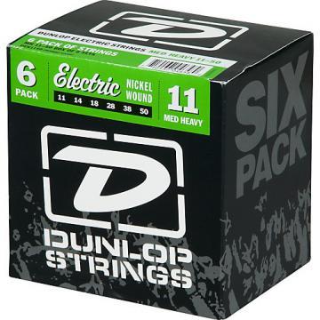 Dunlop Nickel Plated Steel Electric Guitar Strings Medium Heavy 6-Pack