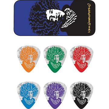 Dunlop John VanHanersvelt Jimi Pick Tin with 6 Picks Medium