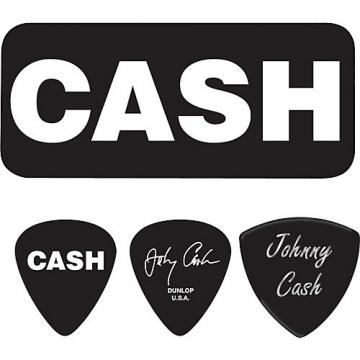 Dunlop Johnny Cash Bold Pick Tin with 6 Picks Medium