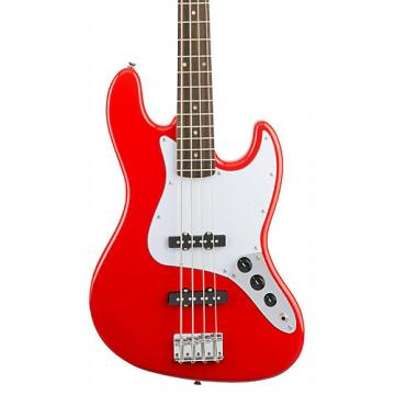 Squier Affinity Series Jazz Bass Guitar Race Red