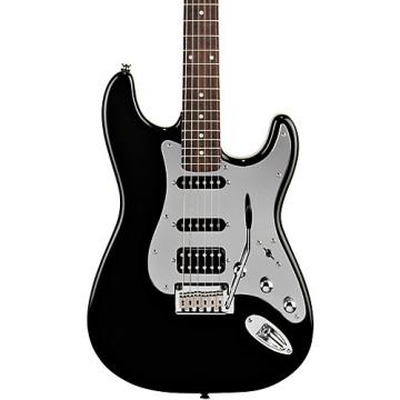Squier Black and Chrome Fat Strat Electric Guitar Black Rosewood Fretboard