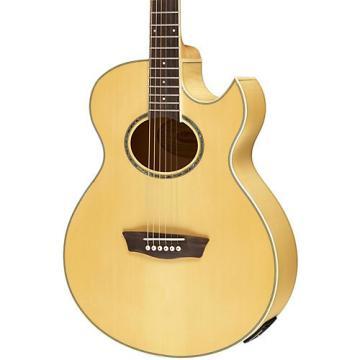 Washburn Festival EA20 Spruce Top Acoustic Cutaway Electric Mini Jumbo Flame Maple Guitar with 4-Band EQ Natural