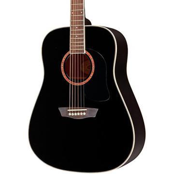 Washburn WD100DL Dreadnought Mahogany Acoustic Guitar Black