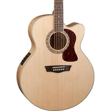 Washburn Heritage Series USM-HJ40SCE Jumbo Acoustic-Electric Guitar Natural