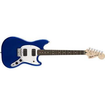 Squier by Fender Bullet Mustang Electric Guitar - HH - Rosewood Fingerboard - Imperial Blue