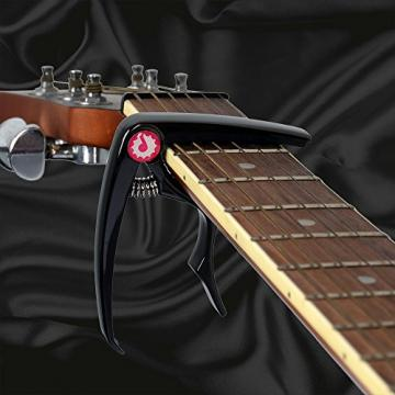 JRZOUR Guitar Package19 in 1(Tuner/Strap/Capo/Pin/Pick)for Tune Acoustic , Electric Guitar, Bass, Ukulele and Violin, Accurate, Fast, Turn 360 Degrees, Chromatic, Electronic