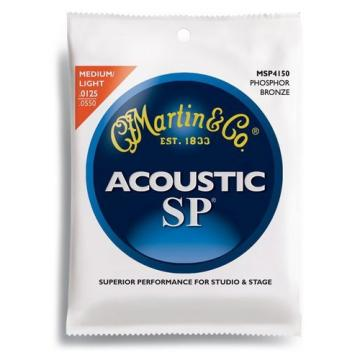 Martin MSP4150 SP Phosphor Bronze Acoustic Guitar Strings, Light/Medium