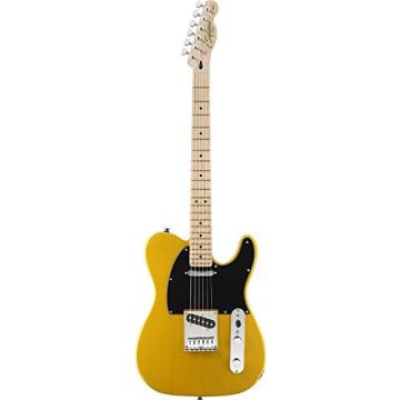 Squier by Fender Affinity Tele Beginner Electric Guitar Pack with Fender FM 15G Amplifier, Clip-On Tuner, Cable, Strap, Picks, and gig bag - Butterscotch Blonde