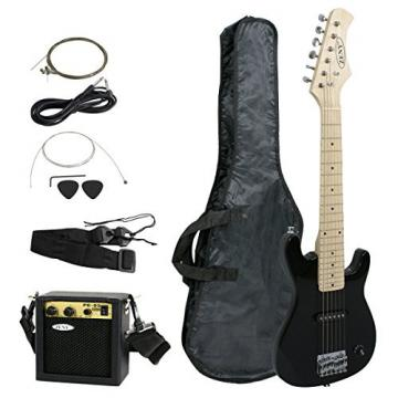 """Zeny 30"""" Kids Electric Guitar with Amp & Much More Guitar Combo Accessory Kit, Black"""