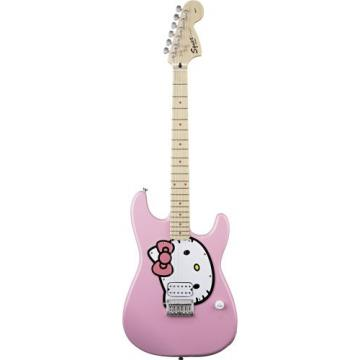 Fender Squier Hello Kitty Strat Guitar, Pink