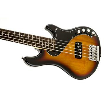 Squier by Fender Deluxe Dimension Bass Guitar V 5-String Rosewood 3-Tone, Sunburst