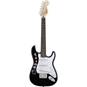Fender Squier Hello Kitty Mini Electric Guitar, Black