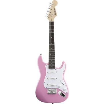 Squier by Fender Mini Strat Electric Guitar with Gear Guardian Extended Warranty - Pink