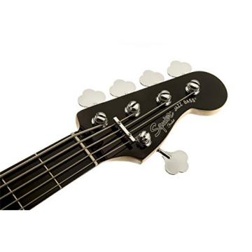 Squier by Fender Deluxe Active Jazz Bass V String, Black