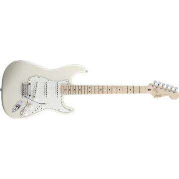 Squier Deluxe Strat Electric Guitar Pearl White Metallic