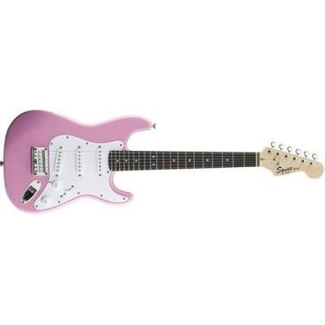 Squier Mini Stratocaster Electric Guitar (Pink)