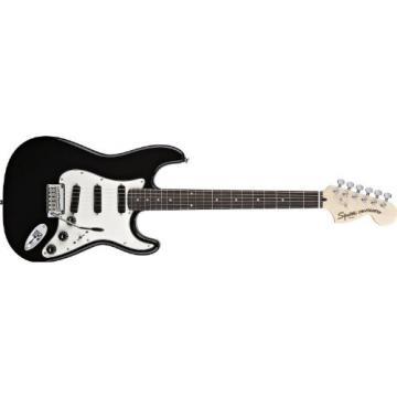 Squier Deluxe Hot Rails Strat Electric Guitar Black