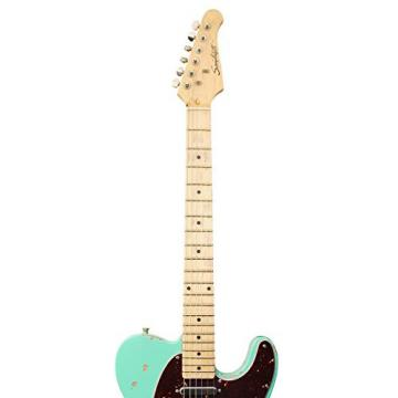 Sawtooth Handcrafted Americana ET Relic Solid Body Electric Guitar with Hard Case, Surf Green