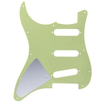IKN Squier Style Guitar Pickguard Scratch Plate SSS w/Screws Mint Green Pearl