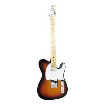 R&B RBTL101 Tele Style Electric Guitar, Tobacco Sunburst